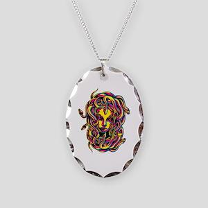CMYK Medusa Necklace Oval Charm