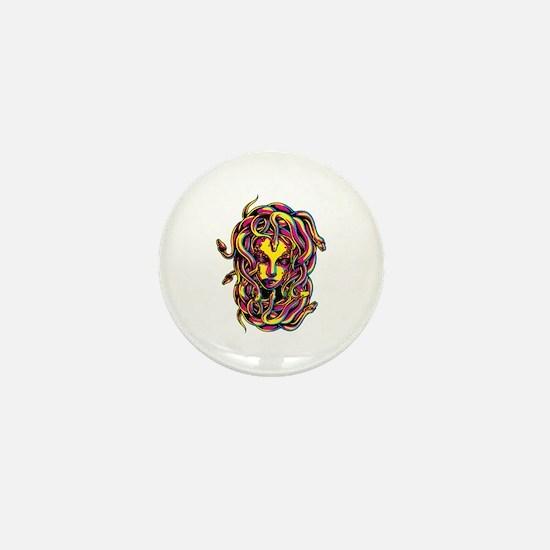 CMYK Medusa Mini Button