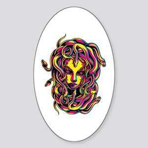 CMYK Medusa Oval Sticker