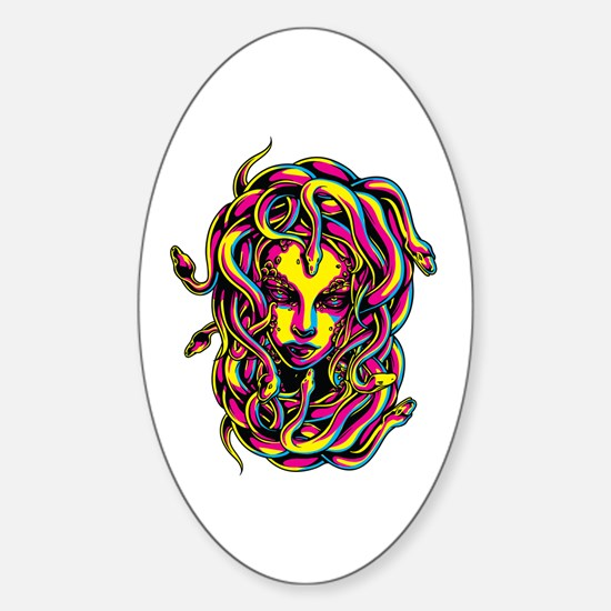 CMYK Medusa Oval Decal