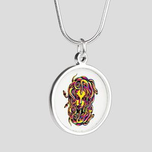CMYK Medusa Silver Round Necklace