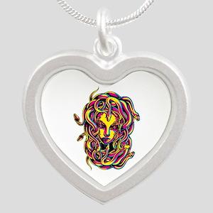 CMYK Medusa Silver Heart Necklace