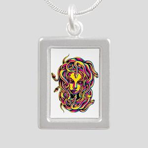 CMYK Medusa Silver Portrait Necklace