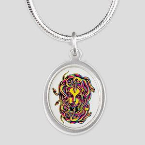 CMYK Medusa Silver Oval Necklace