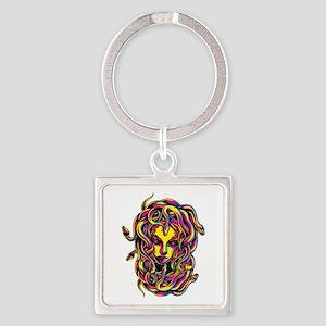 CMYK Medusa Square Keychain