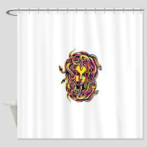 CMYK Medusa Shower Curtain