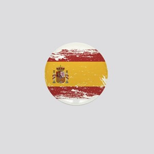 Grunge Spain Flag Mini Button