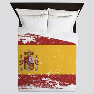 Grunge Spain Flag Queen Duvet