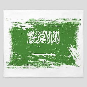 Grunge Saudi Arabia Flag King Duvet