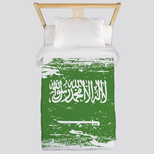 Grunge Saudi Arabia Flag Twin Duvet
