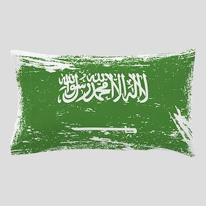 Grunge Saudi Arabia Flag Pillow Case