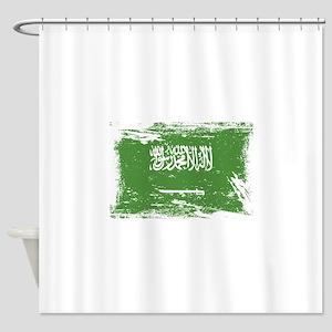 Grunge Saudi Arabia Flag Shower Curtain