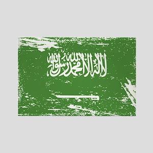 Grunge Saudi Arabia Flag Magnets