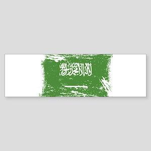 Grunge Saudi Arabia Flag Bumper Sticker