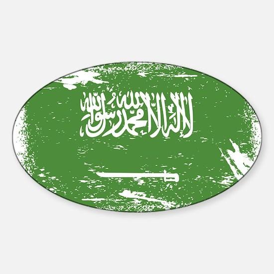 Grunge Saudi Arabia Flag Decal