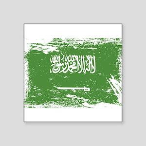 Grunge Saudi Arabia Flag Sticker
