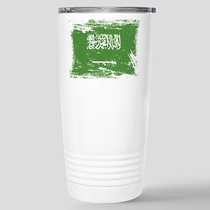 Grunge Saudi Arabia Flag Travel Mug