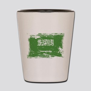 Grunge Saudi Arabia Flag Shot Glass