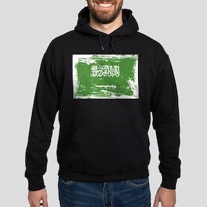 Grunge Saudi Arabia Flag Hoodie