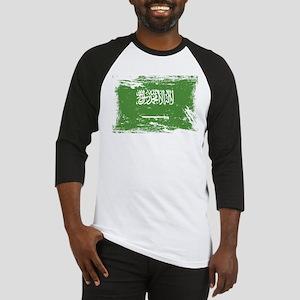 Grunge Saudi Arabia Flag Baseball Jersey