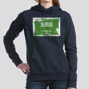Grunge Saudi Arabia Flag Women's Hooded Sweatshirt