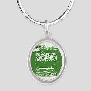 Grunge Saudi Arabia Flag Necklaces