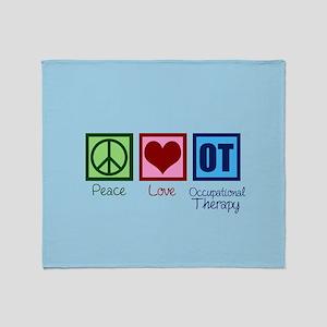 Peace Love Ot Throw Blanket