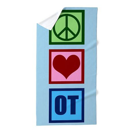 Peace Love OT Beach Towel