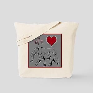 We Heart Elephants ~ Tote Bag