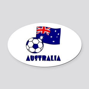 Australia Flag and Soccer Oval Car Magnet