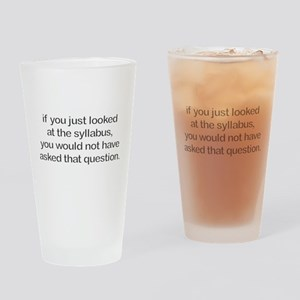 Sillybus Drinking Glass