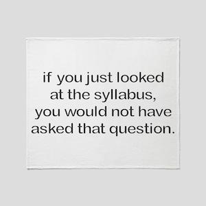 Sillybus Throw Blanket