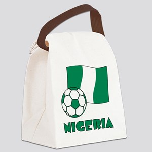 Nigeria Flag and Soccer Canvas Lunch Bag