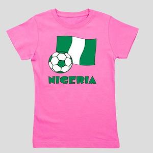 Nigeria Flag and Soccer Girl's Tee