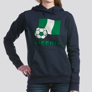 Nigeria Flag and Soccer Women's Hooded Sweatshirt