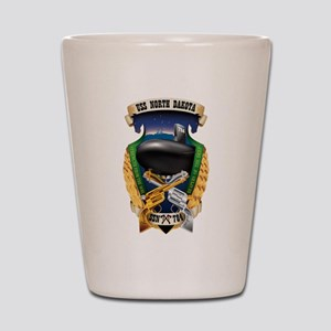 USS North Dakota SSN-784 Shot Glass