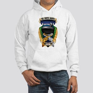 Personalized Uss North Dakota Hooded Sweatshirt