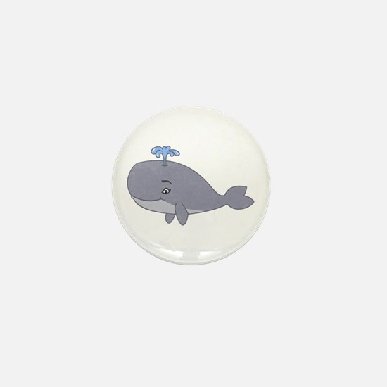 Cute Whale Mini Button