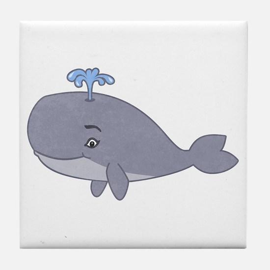 Cute Whale Tile Coaster