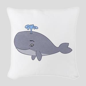 Cute Whale Woven Throw Pillow