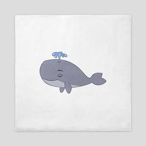 Cute Whale Queen Duvet