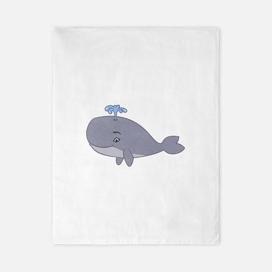 Cute Whale Twin Duvet