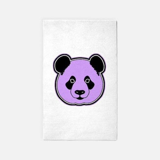 panda head plum 3'x5' Area Rug