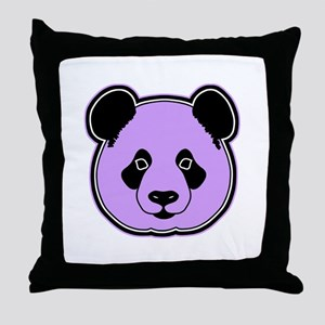 panda head plum Throw Pillow