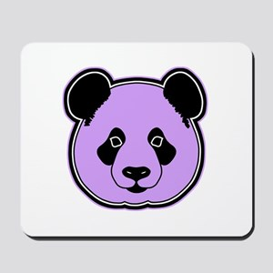 panda head plum Mousepad