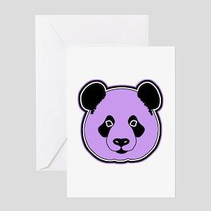 panda head plum Greeting Card