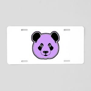panda head plum Aluminum License Plate