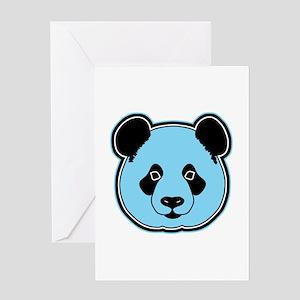 panda head berry Greeting Card