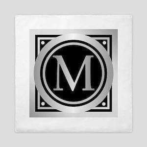 Deco Monogram M Queen Duvet