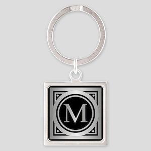 Deco Monogram M Keychains